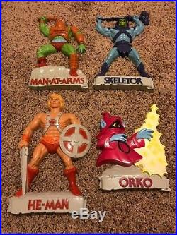 Vintage Set Rare 1984 Masters of the Universe 3D Wall Plaques Skeletor He Man