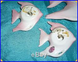 Vintage Set of (5) Piece Enesco Fish Wall Plaques