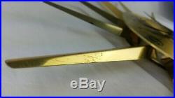 Vintage Seth Thomas Brass Atomic MCM Wall Clock Starburst Sunburst 24