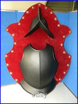 Vintage Spanish Conquistador Armor Cuirass Breastplate Helmet Wall Plaque Art