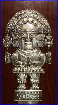 Vintage Sterling Silver 925 Wall Plaque Tumi Sipan Peruvian Peru, Pre Incan Inca