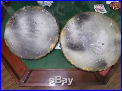 Vintage Stunning pair Michigan Composition & Lamp Co Lady Wall Plaque Chalkware