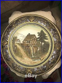 Vintage Switzerland Wall Plaque OLD! Signed! Titled. (Muhle I'm Walde)