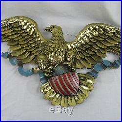Vintage Syroco American Eagle WithShield Patriotic Wall Plaque 45 #3762