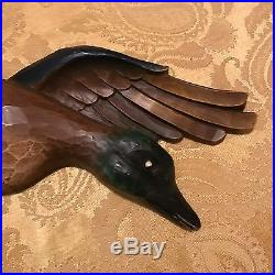 Vintage Syroco Plaques Wall Hanging Mallard Duck Green Browns 1963 Made in USA