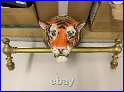 Vintage TIGER HEAD Wall Mounted Picture Light Taxidermy Interest 3 Available