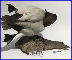 Vintage Taxidermy Handmade Mallard Duck Decoy Wall Mount Plaque Wood 1991