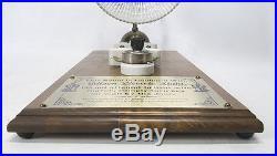 Vintage Thomas Edison Electric Light Bulb/ Lamp Railway Wooden Wall Plaque yqz