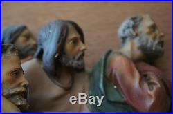Vintage Three Dimensional Chalkware Relief/large Wall Plaque The Last Supper