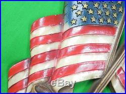 Vintage US Sexton Pledge of Allegiance American Flag Metal Wall Plaque