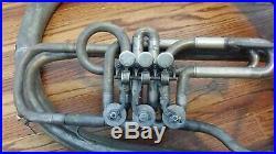 Vintage Used Helicon Tuba Henry Gunchel / Paris. Needs valve work/wall hanger