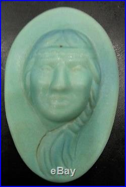 Vintage Van Briggle One Feather and Little Star Indian Wall Plaques