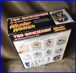 Vintage Wonder Woman Tru-dimension Wall Plaque Kit Original Box