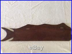 Vintage Wood Carving Mahi Mahi Wall Plaque Lots of Detail Palau Storyboard