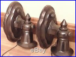 Vintage brass Wall Sconces Antique vintage lighting fixtures PAIR