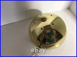Vintage brass mid century scissor accordion Sconce EYEBALL Wall mount lamp light