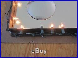 Vintage turner brass infinity mirror wall sculpture light atomic groovy retro