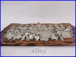 Vtg 1964 LAST SUPPER WALL SCULPTURE Metal Art Wall Plaque J. HIDALGO EGIDO