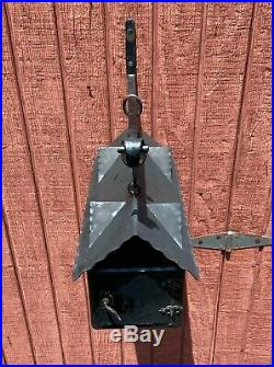 Vtg Antique Metal Mission Arts & Crafts Wall or Pillar Mount Mailbox RARE