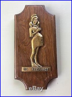 Vtg Be Prepared Wall Plaque Art from George Adams Pregnant Girl Scout Poster