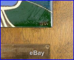 Vtg Jackson Woolley Enamel Wall Plaque San Diego Old Globe Theater Trophy