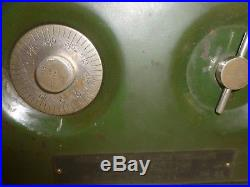Vtg Old Green Dial Combination Wall Safe William J Burns Detective Agency Plaque