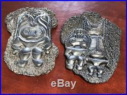 Vtg Set Coco Joes Lava Wall Hanging Plaque Tiki God Mug