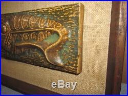 Vtg TOM TRU Fish 3D Wall Art Sculpture/Plaque/Framed MCM J0222