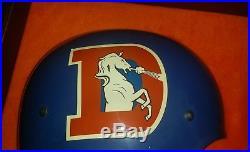 Vtg Very RARE 1968-73 Denver Broncos NFL Half Helmet Wall Plaque -Collectible
