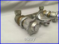Vtg Wall Mount Bathroom Lavatory Sink Faucet Tap Chrome Brass 8 Old 274-20E