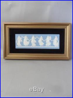 Vtg Wedgwood Blue Jasperware Porcelain Neoclassical Wall Plaque
