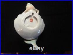 WOW Vintage Lefton Ceramic Mermaid on Iridescent Shell, Wall Plaque, Figurine
